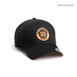 Mens baseball cap, black/orange
