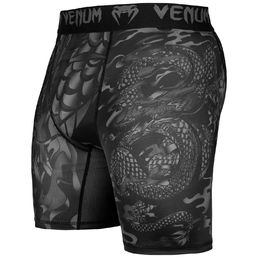 Venum Dragon's flight Compression Shorts -kompressioshortsit Musta/Musta