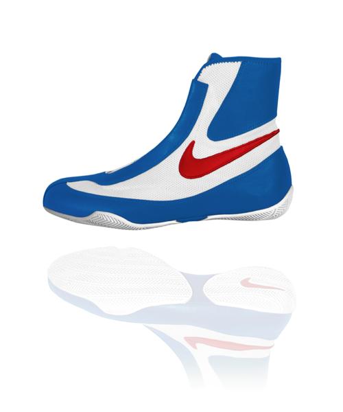Nike Machomai Mid - Nyrkkeilykenkä (Sininen Valkoinen Punainen) 4d8858377f