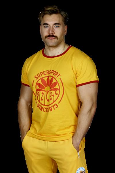 Nousu supersport t-paita naiset, keltainen