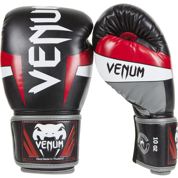 Venum Elite Nyrkkeilyhanska Musta-Harmaa-Punainen 7ccbc9db2f